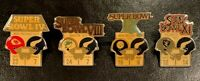Minnesota Vikings Set of All 4 NFL Super Bowl Starline Collector Pins, Very Rare