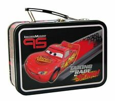 Disney Cars Lightning Mcqueen Tin Lunch Box Carry All Toys Cards Gift Bag Case