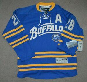 NWT Paul Gaustad Buffalo Sabres 40th Anniversary Alternate Reebok Jersey Small