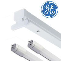GE 5ft T8 Twin LED Ready Single Ended Batten Fitting IP40 With/Without Tubes