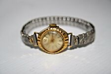 Vintage Timex Coctail Shockproof Gold Plated Woman's Fashion Designer Wristwatch