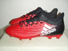 MENS RED/BLACK ADIDAS TECHFIT X FOOTBALL BOOTS SIZE UK 10.5 EU 45.5. USED.