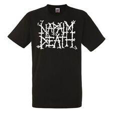 NAPALM DEATH LOGO Black New T-shirt Rock T-shirt Rock Band Shirt