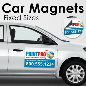 Custom Car Magnets  Magnetic Auto Truck Signs 2- signs per order