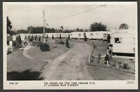 Postcard St Leonards nr Ringwood New Forest Hampshire vintage caravan site RP