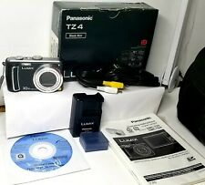Panasonic LUMIX DMC-TZ4 Digital Camera - Black - used  in box 8.1MP