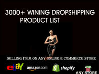 2000 Winning Drop Shipping Product Suppliers List Aliexpress to eBay, Shopify