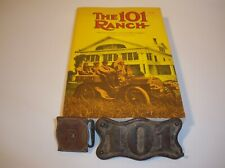 101 Ranch Miller Bros. Bronze Plaque, Strap Adjuster, and Rare Book, Lot of 3