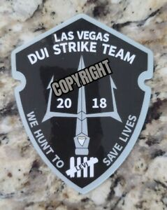 Las Vegas DUI Strike Team Police Sticker (NHP/LVMPD DUI Strike Team)