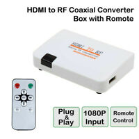 HDMI To RF Coaxial Converter Box With Remote Control Signal Transmitter Adapter