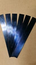 "Blue Tempered Spring Steel Shim .020 Thick x 0.750"" Wide x 6"" ONE PIECE PER LOT"