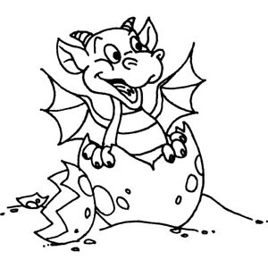 'Hatching Baby Dragon' Unmounted Rubber Stamp (RS012962)