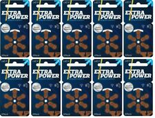 ExtraPower hearing aid batteries (Size 312) - 10 cards (60 cells). MF