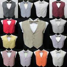 Men's Jean Yves Diamond Fullback Tuxedo Vest & Tie Formal Wedding Prom Discount