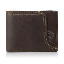 Levis Men's Leather Passcase Wallet - Brown