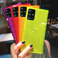 For Samsung S20 FE Note 20 Ultra A71 A51 Glitter Fluorescent TPU Soft Case Cover