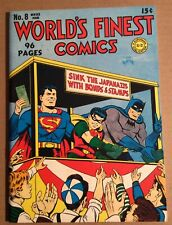 WORLD'S FINEST COMICS #8 REPRINT ISSUE (Flashback #38) DynaPubs; NM