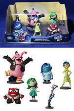 New PIXAR INSIDE OUT Figurine Playset 6 Figures CAKE TOPPERS Joy BING BONG Anger