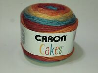 1 Skein Caron Cakes Yarn 7.1 oz Rainbow Sprinkles Worsted Wool Blend