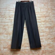 GINGER & SMART Size 12 Pants Trousers Chocolate Career Work Wide Straight Leg