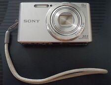 Sony Cyber-Shot DSC-W830 20.1MP Digital Camera Silver 2016 w CHARGER,BAG & 8GB
