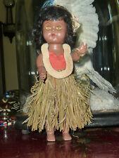 Vintage Hula hard plastic walker Hawaiian doll, excellent