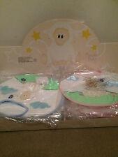 10 BNWT Russ Berrie Baasley Baby Girls & Boys Bibs Blue & Pink Wholesale Joblot