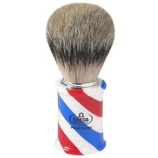 BARBER POLE PENNELLO DA BARBA OMEGA TASSO SUPER 6735 SUPER BADGER SHAVING BRUSH