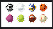 USPS 2017 Sports  (Have A Ball Stamps) BLOCK OF EIGHT W/P# & VERY FINE MNH