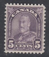 """Canada MINT OG Scott #169  5 cent dull violet """"Leaf""""  F"""