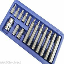 "Hexagonales Llaves Allen Set 15PC 1/2, ""Conducir Llave clave Socket Bit Set métrico 4 - 12mm"