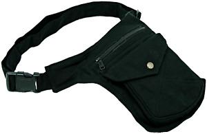 Gürteltasche Sidebag Hipbag Schwarz Bauchtasche Baumwolle NEU Top Qualität