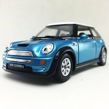"New 5"" Kinsmart Mini Cooper S Diecast Model Toy Car 1:28 Blue"