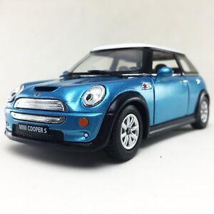 """New 5"""" Kinsmart Mini Cooper S Diecast Model Toy Car 1:28 Blue"""