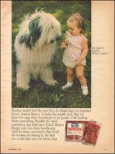 1968 Vintage ad for Ken Ration Burger`Old English Sheep Dog Photo Dog Food