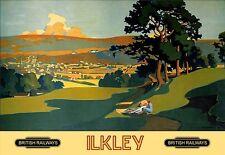 Art Print Ilkley  Railway Poster