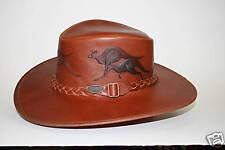 Overlander Leather Hat, with six embossed kangaroos