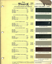 1942 STUDEBAKER Color Chip Paint Sample Brochure/Chart: ACME
