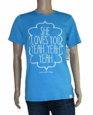 Lyric Culture Mens Blue She Loves You Graphic T-Shirt M