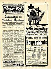 Erven Lucas Bols Amsterdam Jugend-Anzeigen (Nr.3) Art nouveau  Reklame Ad 1906