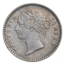 Roughly the Size of a Dime 1841 British India 2 Annas World Silver Coin *189