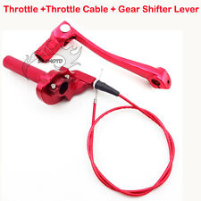 Throttle Gear Shift Lever Red For Chinese Pit Dirt Bike BSE CRF50 Thumpstar SSR