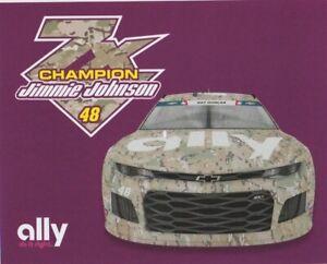 2019 Jimmie Johnson ally Bank Camo Chevy Camaro Charlotte NASCAR MENCS postcard