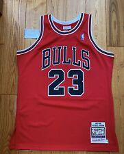 100% Authentic Michael Jordan Mitchell Ness 1997-98 Chicago Bulls Jersey Red