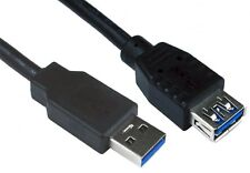 5M USB 3.0 Extension Lead A Male to A Female Cable Extender 5 Metre Black