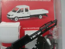 1/87 Herpa MINIKIT on TGE Double Cabine Avec Pick-up blanc 013215