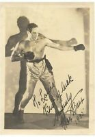 1935 Max Baer Boxing Champ Signed Autograph Sephia Photo JSA COA