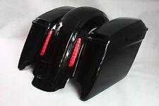 Rear fender +LED light+saddlebags ABS for harley touring 2014-2016 vivid black