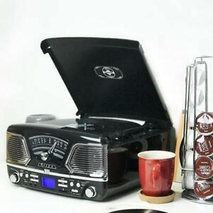 Steepletone Roxy 4 Vinyl Record Player Turntable CD Radio MP3 USB Music Centre