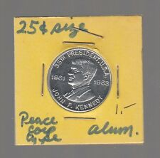 [48482] UNDATED 25 CENT-SIZED TOKEN PRESIDENT JOHN F. KENNEDY PEACE CORPS